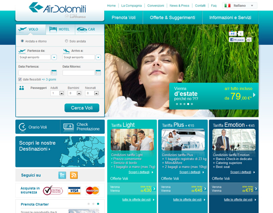 Home Page Air Dolomiti