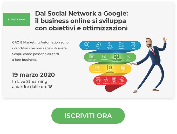 Dai Social Network a Google: il business online si sviluppa con obiettivi e ottimizzazioni